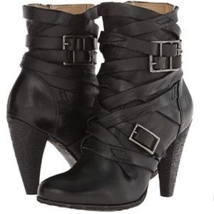Mikaela leather strappy boots